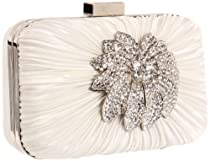 Big Sale Jessica McClintock Bridal Minaudiere V41031/09 Clutch,White,One Size