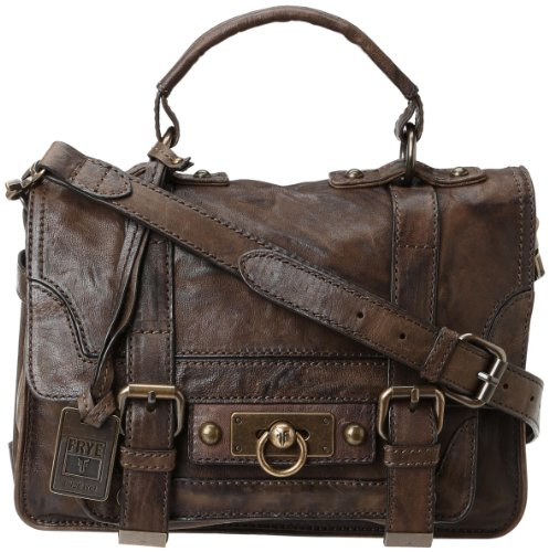 FRYE Cameron Small Satchel Handbag,Taupe,One Size
