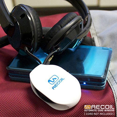 recoil automatic cord winder for headphones