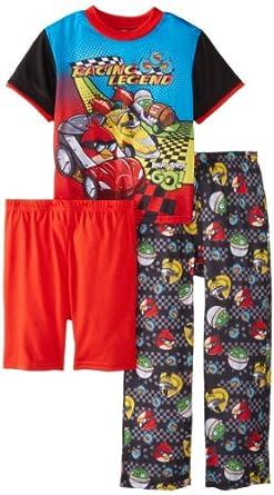 Angry Birds Big Boys' Go 3 Piece Pajama Set, Multi, 8