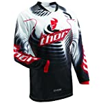 Thor Mens Phase Vented Motocross Jersey Red Large L