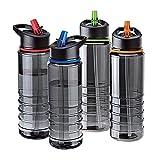 AAJ Flip Straw Tritan Drinks Sport Hydration Water Bottle 700ml Cycling Hiking BPA Free