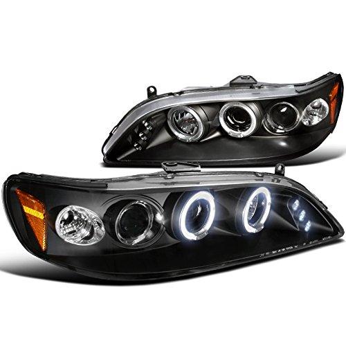 Spec-D Tuning 2LHP-ACD98JM-TM Honda Accord Led Black Projector Halo Head Lights (1999 Honda Accord Headlights compare prices)