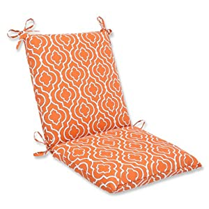 Pillow Perfect Outdoor Starlet Mandarin Squared Corners Chair Cushion by Pillow Perfect