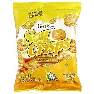 Amazon.com: Genisoy Soy Crisps, Rich Cheddar Cheese, 1 ...