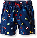 Hatley Boys' Nautical Flags Swim Trunks