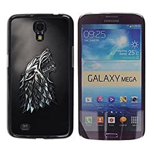 Omega Covers - Snap on Hard Back Case Cover Shell FOR SAMSUNG GALAXY MEGA 6.3 - Metal Wolf