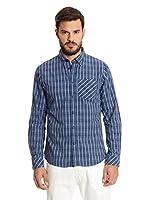 New Caro Camisa Hombre Juno (Azul Marino)