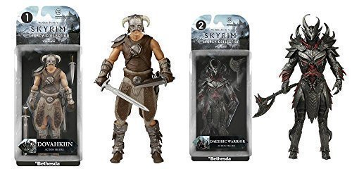 Elder Scrolls V: Skyrim Dovahkiin and Daedric Legacy Collection Action Figures Set of 2 by Elder Scrolls