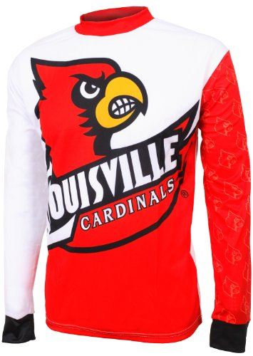 NCAA Boys' Louisville Cardinals Long Sleeve Performance BMX Jersey, Multi, Large, 10-12 at Amazon.com