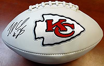 Jamaal Charles Autographed White Logo Football Kansas City Chiefs Psa/dna Stock #98275