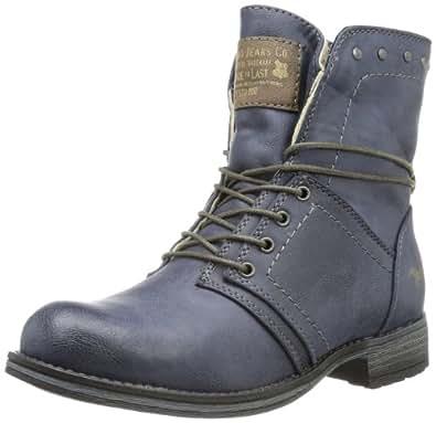 Mustang Schnür-Booty, Mädchen Kurzschaft Stiefel, Blau (800 dunkelblau), 33 EU