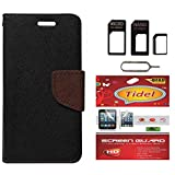 Tidel Premium Table Talk Fancy Diary Wallet Flip Cover Case For Samsung Galaxy J7 (Black) With Tidel Screen Guard...