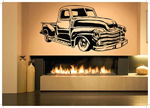 Wall Room Decor Art Vinyl Sticker Mural Decal Retro Vintage Truck Poster Vehicle Car Transport AS2793