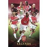 Arsenal アーセナル レジェンド プレイヤーズ ポスター / カレンダー 写真 ピクチャー SP0833 アンリ ベルカンプ