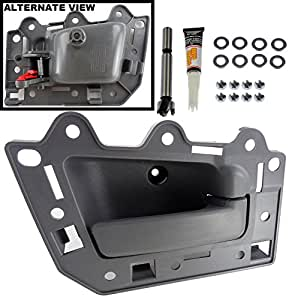 Apdty 93240 interior door handle kit front right side passenger side all gray 2005 jeep grand cherokee interior door handle replacement