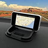 IBROZ Support Auto voiture Universel Smartphones, Tablettes, GPS sur Tableau de Bord, Console, Dashboard, pour iPhone 6, iPhone 5, 4, 4S, Samsung Galaxy S3, S4, S5 - Galaxy Note 3 / 4 HTC / Sony Xperia / Nokia Lumia / LG, Takara, Tomtom ...