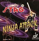 Stag Ninja Attack Table Tennis Rubber (Black)