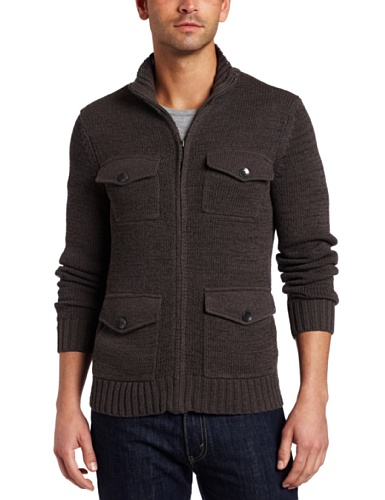 Kenneth Cole New York Men's Zipfront Cardigan