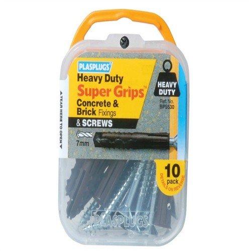 Heavy Duty Fixing Plus Screw - Brown X10