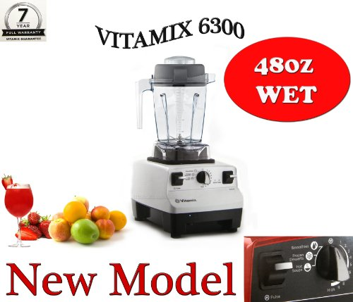 VITAMIX 6300 WHITE - With Compact 48oz Container, Featuring 3 Pre-programmed Settings, Variable Speed Control, and Pulse Function . Includes Savor Recipes Book and DVD (Pulse Vitamix compare prices)