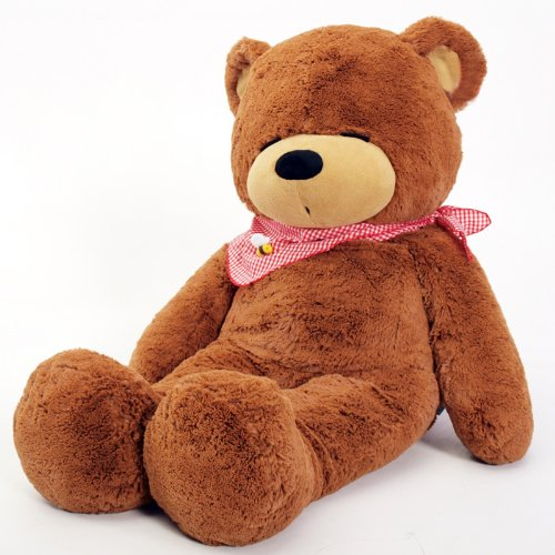 "Hessie Plush Bear 43.3"" Large Size - Brown front-404486"
