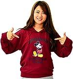 (ディズニー) Disney パーカー レディース 長袖 プルオーバー アーチロゴ ミッキー スウェット 4color M ワイン