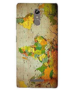 Case Cover Map Printed Multicolor Soft Back Cover For Gionee S6s