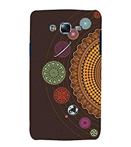 printtech Ethnic Solar System Pattern Back Case Cover for Samsung Galaxy A3 / Samsung Galaxy A3 A300F