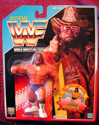 WWF Macho Man Randy Savage Wrestling Action Figure WWE WCW ECW