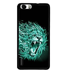 printtech Lion Nature Design Back Case Cover for Huawei Honor 6 ,Versions: - H60-L01 TDD LTE (Single SIM) - H60-L02 FDD&TDD LTE, HSDPA - H60-L04 FDD&TDD LTE, HSDPA (Single SIM) - H60-L12 FDD LTE, HSDPA, NFC - H60-L12 FDD LTE, NFC