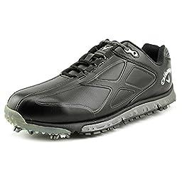 Callaway Footwear Men\'s Xfer Pro Golf Shoe, Black/Black, 10.5 M US