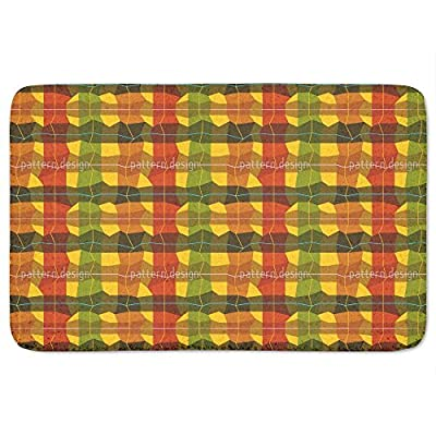 Almost Checkered Bathroom Rugs Incrediby Soft Memory Foam Spa Quality