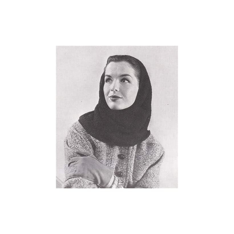 Crochet Hood Head Scarf Vintage Crochet Pattern EBook Download