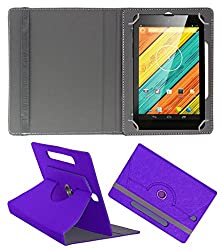 Acm Designer Rotating Case For Digiflip Pro Xt712 Tab Stand Cover Purple