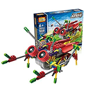 [ Motorial Alien Robot ] LOZ Robotic Building Set Block Toy ,Battery Motor Operated,3D Puzzle Design Alien Primate Robot Figure for kids and adults , Sturdy Enough , 122 parts ?Burst Cicada)