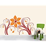 Sky Solution Decor Home Design Wall Sticker For Nature Flowers Wall Sticker Medium Size - 24*14 (Inch) - Multicolor