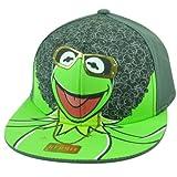 Disney Muppets Kermit Frog Hip Hop Swagger Cartoon Flat Bill Snapback Hat Cap