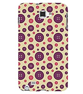 Printvisa Dual Colour Circular Pattern Back Case Cover for Samsung Galaxy Note i9220::Samsung Galaxy Note 1 N7000