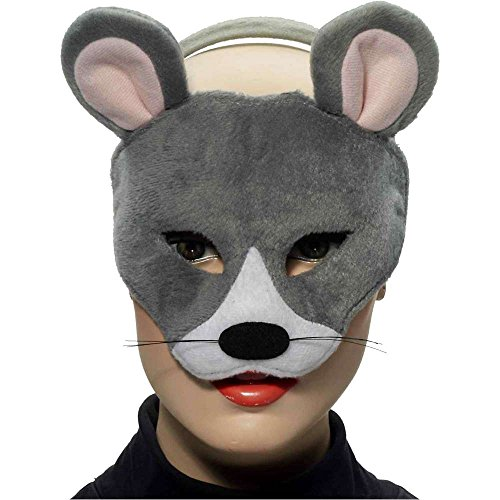 Mouse Deluxe Plush Animal Mask - One Size