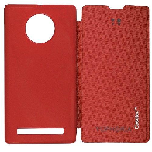 Casotec Premium Flip Case Cover for Micromax YU Yuphoria AQ5010 - Red