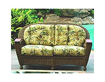 Wicker Loveseat (Coral (All Weather))
