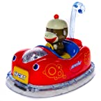 Sock Monkey Toy Moving Car