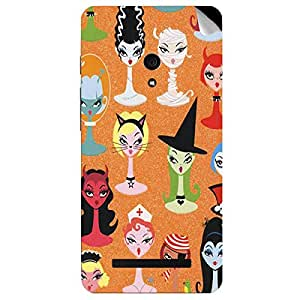 Theskinmantra Cat Faces Asus Zenfone 5 mobile skin