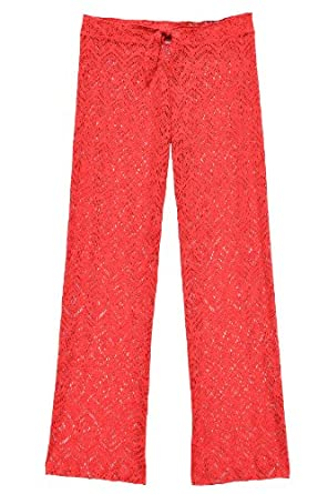 Becca by Rebecca Virtue Women's Colorized Pants Swim Cover Up Tangerine S