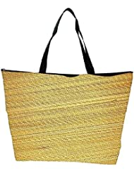 Snoogg Bamboo Mat Background Waterproof Bag Made Of High Strength Nylon