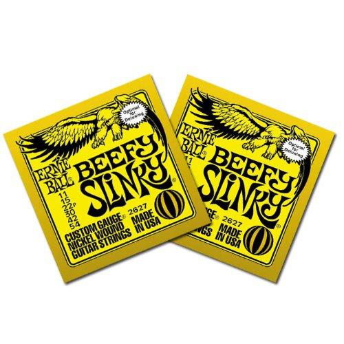 Ernie Ball 2627 Beefy Slinky Electric Guitar Strings 11-54 2 Pack