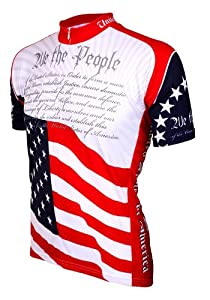 World Jerseys Mens U.S. Constitution Cycling Jersey by World Jerseys