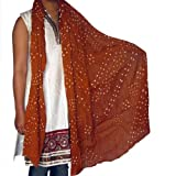 Womens Scarf Cotton Summer Wear Clothing Accessory from India 92 x 213 cmsby DakshCraft