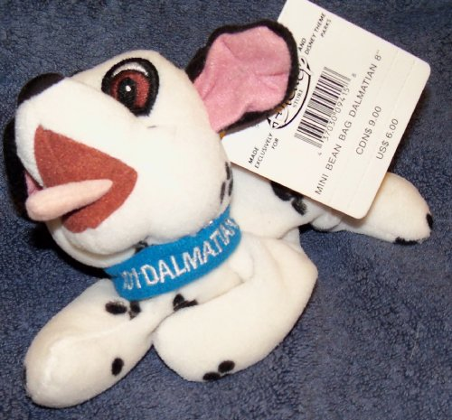 "Disney 101 Dalmations 8"" Dalmation Bean Bag Plush - 1"